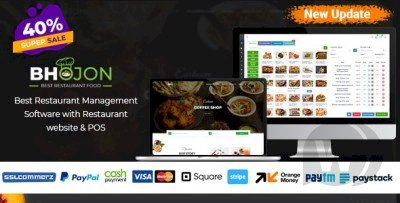 Bhojon - Best Restaurant Management Script with Restaurant Website