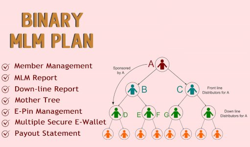 Multi-Level Marketing MLM with unilevel compensation plan