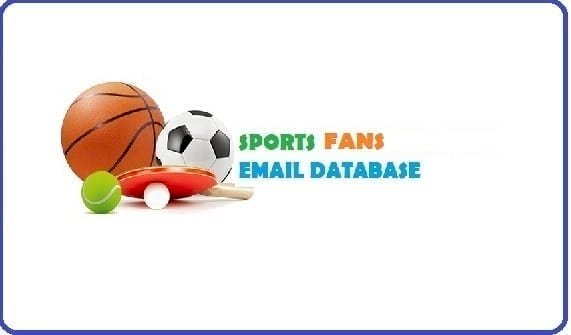 500K Fresh Updated Sports Fans Email Database