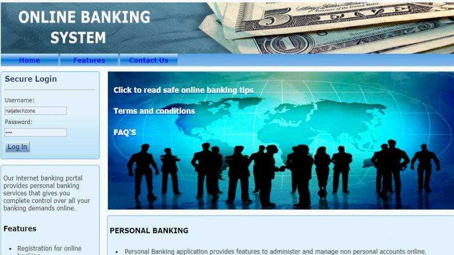 Online Banking Script PHP