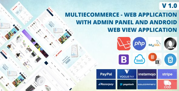 Multi Ecommerce - Web Application And Android App System