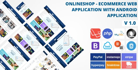 Online Shop - Ecommerce Web And Android App System