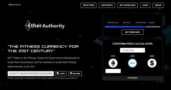Ether: Initial Coin Offering Script
