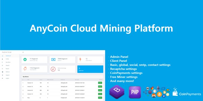 AnyCoin - Cloud Mining Script System