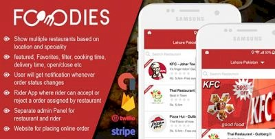 Restaurant Food Delivery & Ordering System With Delivery Boy - Android v5.0