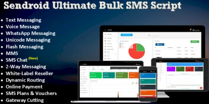 Bulk SMS, WhatsApp & Voice Messaging Script with SMS Chat