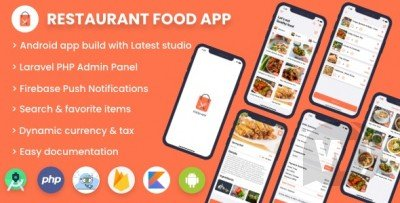 Single restaurant food ordering app - Android App with Admin Backend