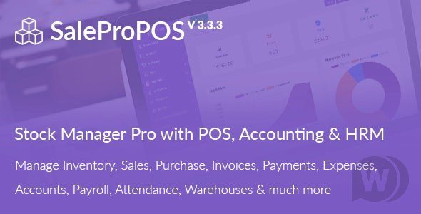 SalePro V3.3.3 - inventory management system with POS, HRM, accounting