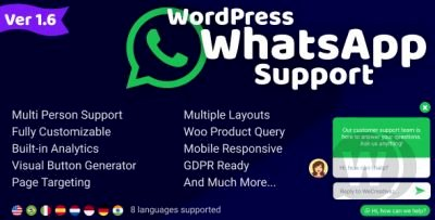 WordPress WhatsApp Support v1.9.6  WhatsApp Chat for WordPress