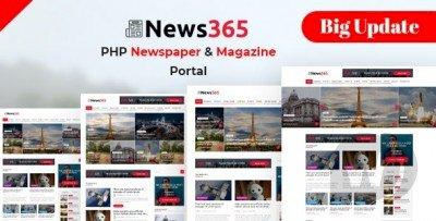News365 – PHP Newspaper Script Magazine Blog with Video Newspaper