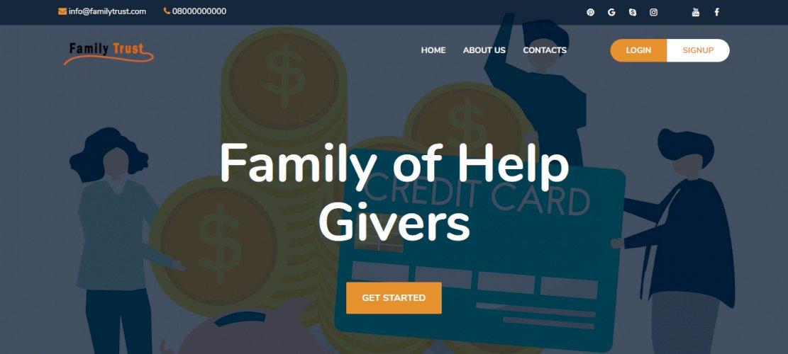 FamilyTrust - A Modern P2P Donation System Script