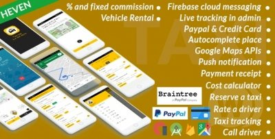 Uber App - Taxi Cab - On Demand Taxi | Complete solution