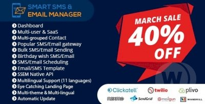 Smart SMS & Email Manager Script